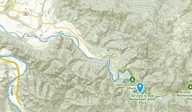 Carlotta, California Map