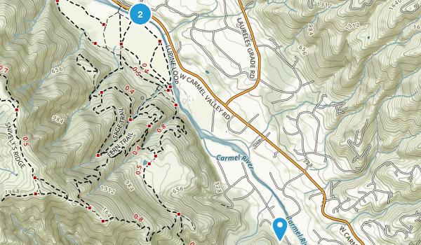 Carmel Valley Village, California Map