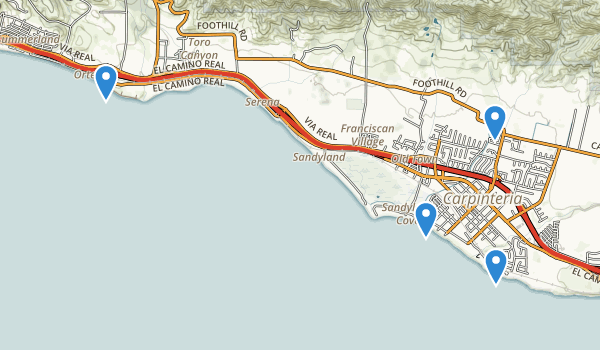 Carpinteria, California Map