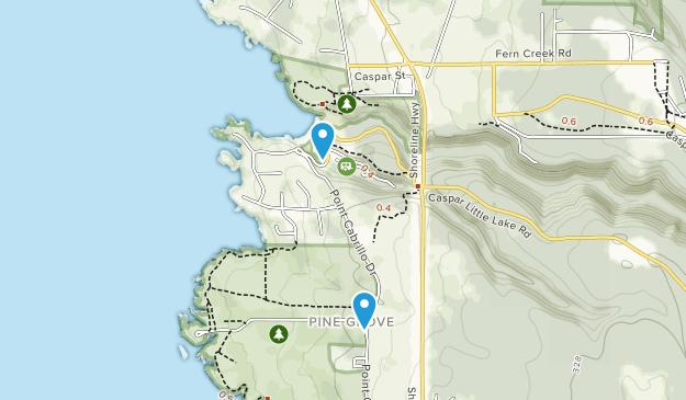 Caspar, Kalifornien Map