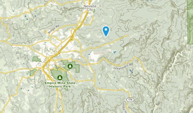 Cedar Ridge, California Map