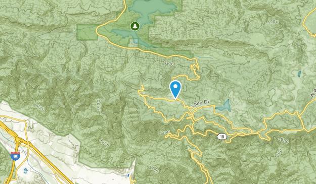 Cedarpines Park, Kalifornien Map