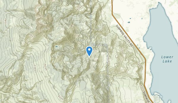 trail locations for Cedarville, California