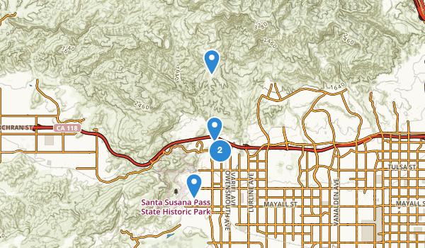 trail locations for Chatsworth, California