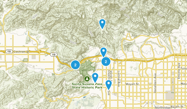 Chatsworth, California Map