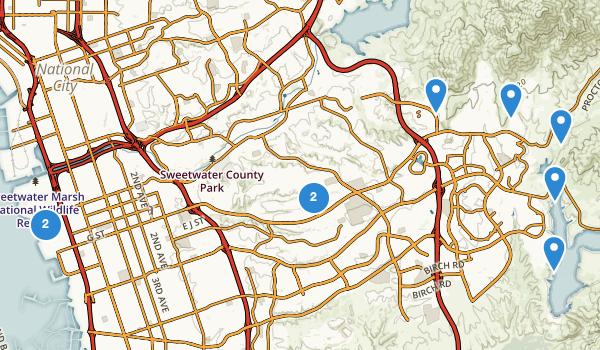 trail locations for Chula Vista, California