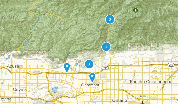 Claremont, Kalifornien Map