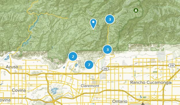 Claremont California Map Best Trails near Claremont, California | AllTrails