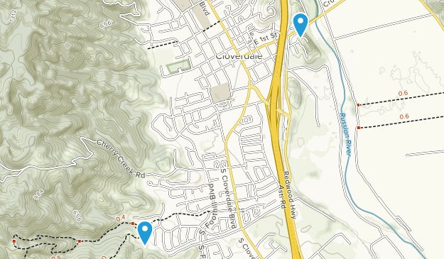Cloverdale, California Map