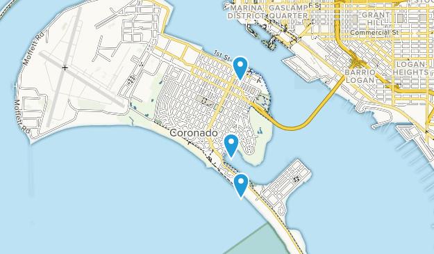 Coronado, California Map