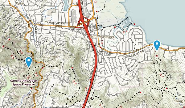 Corte Madera, California Map