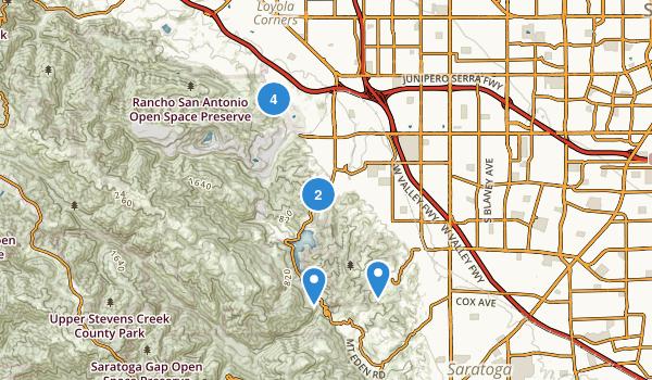 Cupertino, California Map