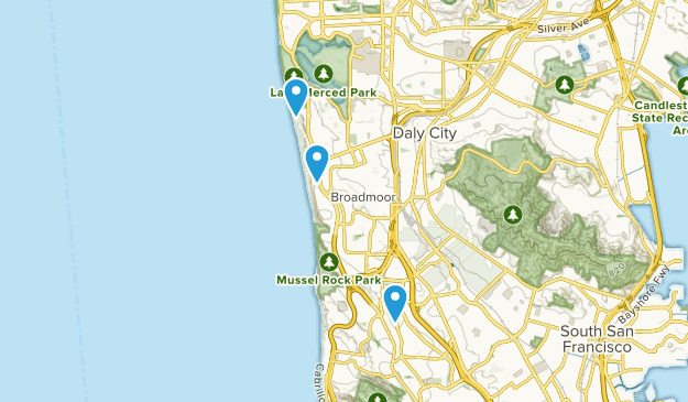 Daly City, California Map