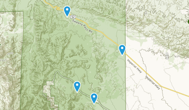 Dos Cabezas, California Map