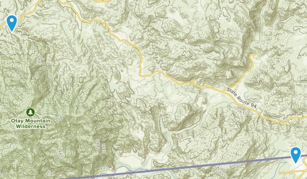 Dulzura, California Map
