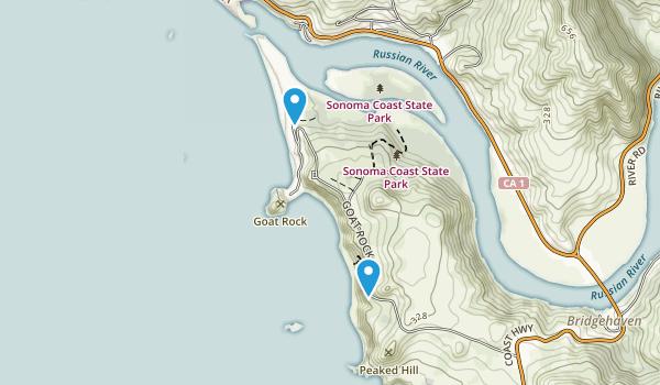 Duncans Mills, California Map