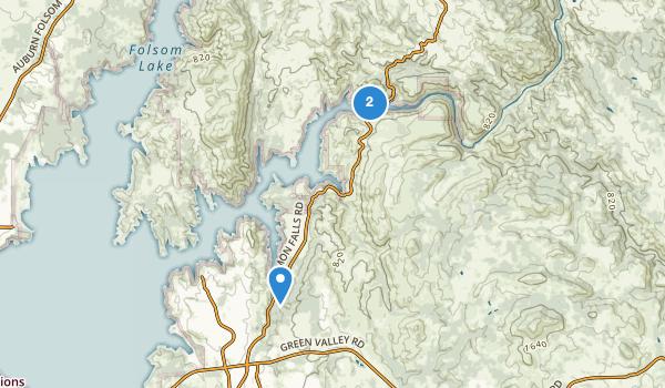trail locations for El Dorado Hills, California