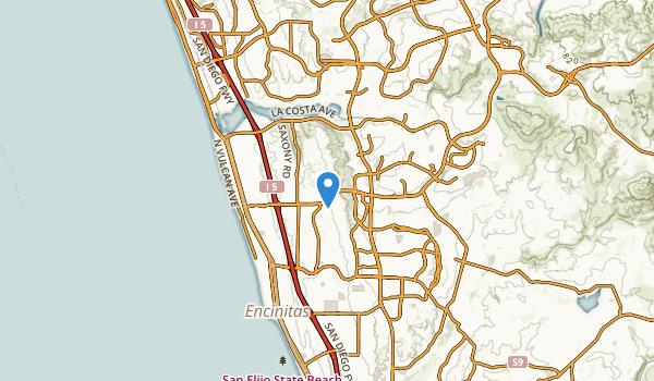 trail locations for Encinitas, California