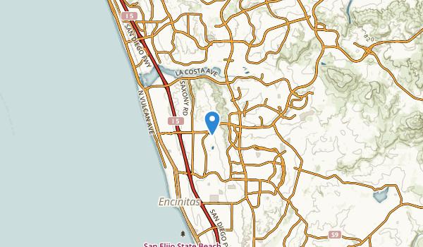 Encinitas, California Map