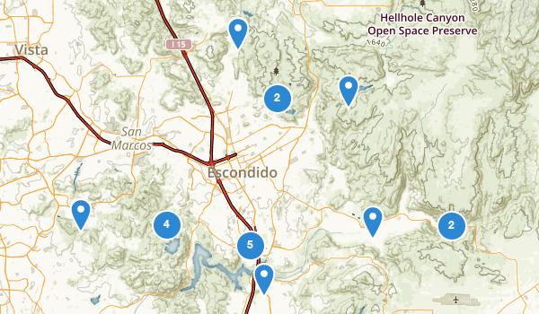trail locations for Escondido, California
