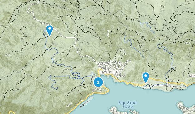 Fawnskin, California Map