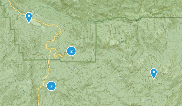 Fish Camp, Kalifornien Map