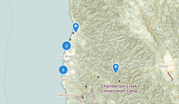 Fort Bragg, California Map