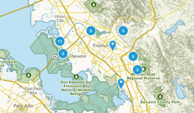 Fremont, California Map