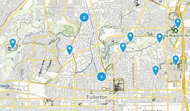 Fullerton, California Map