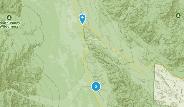 Furnace Creek, California Map