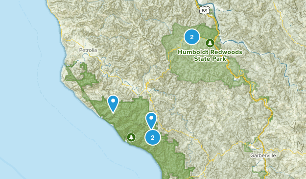 Garberville, California Map