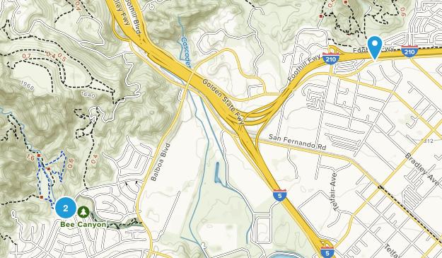 Granada Hills, California Map