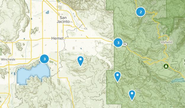 Hemet, Kalifornien Map