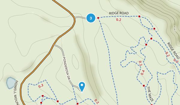 Howell Mountain, California Map