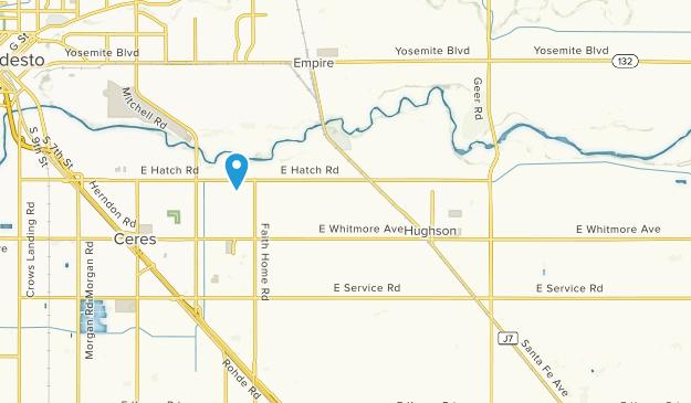 Hughson, California Map