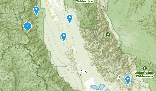 Independence, California Map