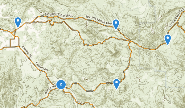 trail locations for Jamul, California