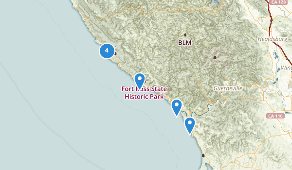 trail locations for Jenner, California