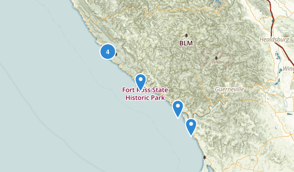 Jenner, California Map
