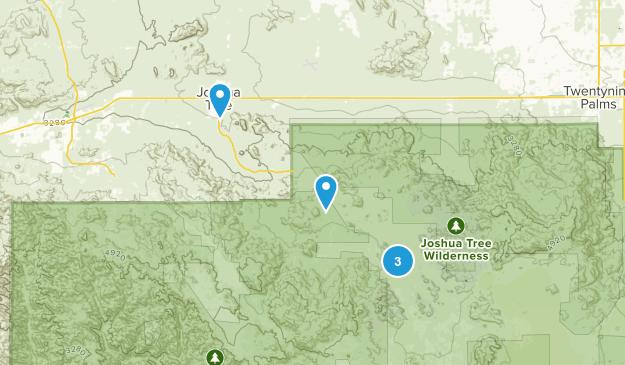 Joshua Tree, California Map
