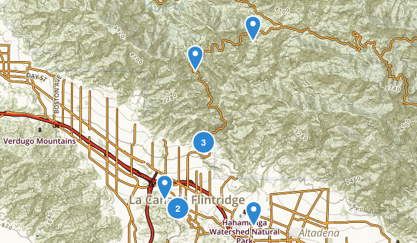 La Canada Flintridge, California Map
