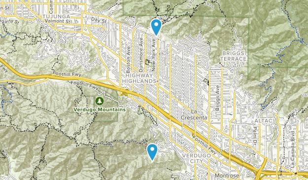 La Crescenta, California Map