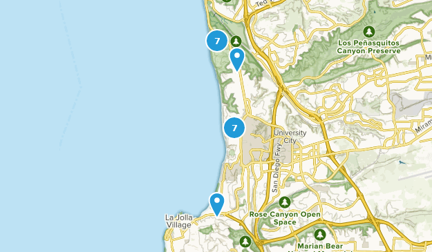 Best Trails Near La Jolla California Alltrails - Us-map-la