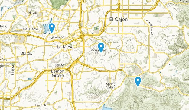 La Mesa, California Map