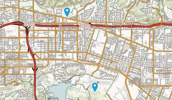 La Verne, California Map