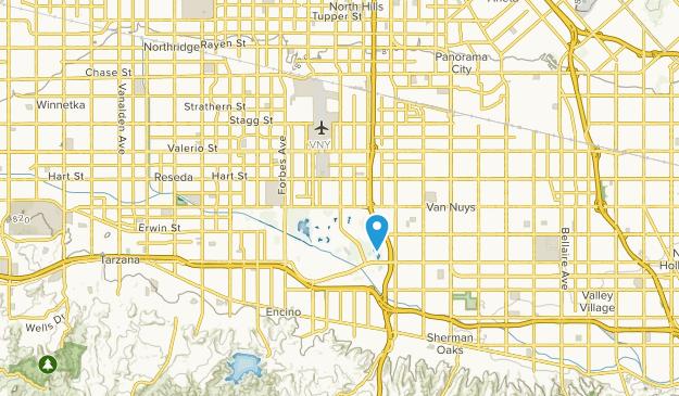 Lake Balboa, California Map