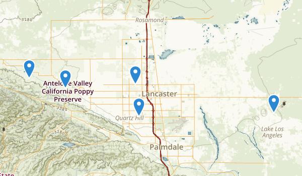 Lancaster, California Map