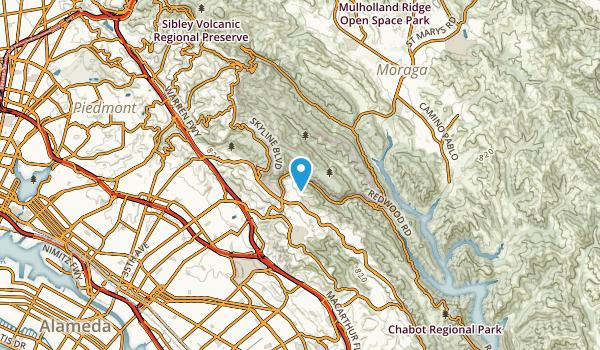 Leona Heights, California Map