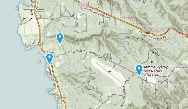 Little River, California Map