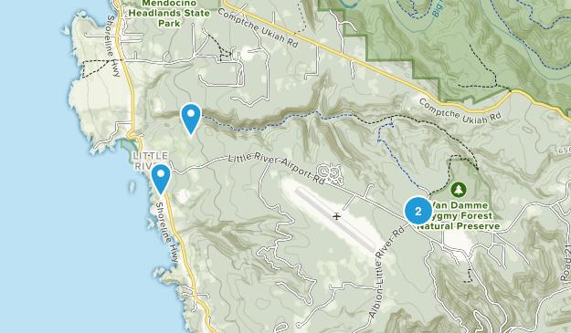 Little River, Kalifornien Map